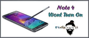note 4 wont turn on