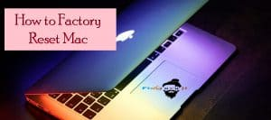 how to factory reset mac