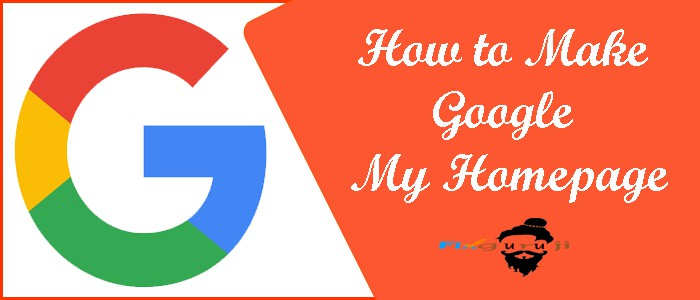 how to make google my homepage