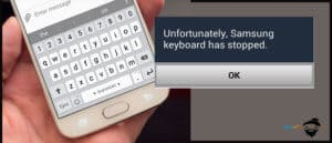 unfortunately samsung keyboard has stopped
