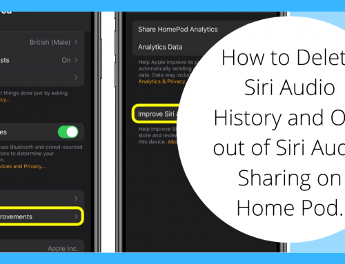 How to Delete Siri Audio History and Opt out of Siri Audio Sharing on Home Pod