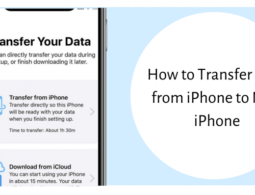 How to Transfer Data from iPhone to New iPhone