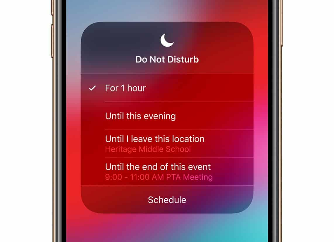 do not disturb mode on iphone