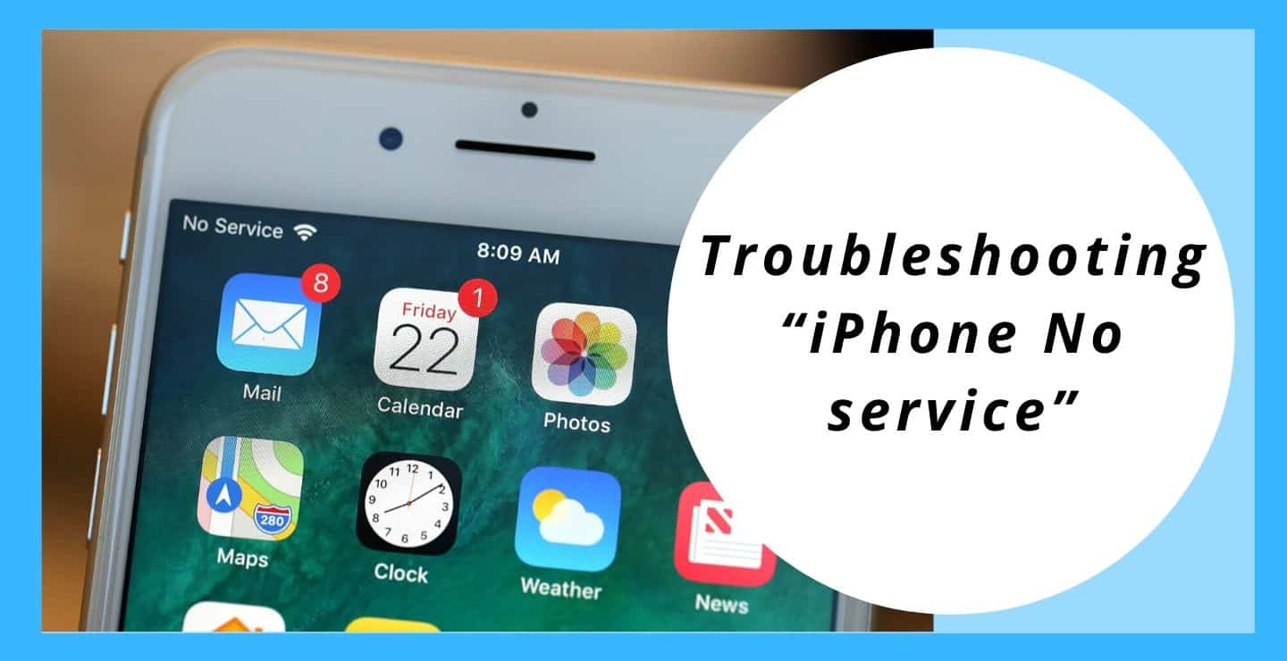 Troubleshooting iPhone No service