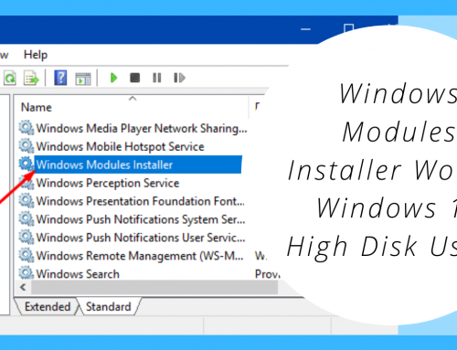Windows Modules Installer Worker Windows 10 High Disk Usage
